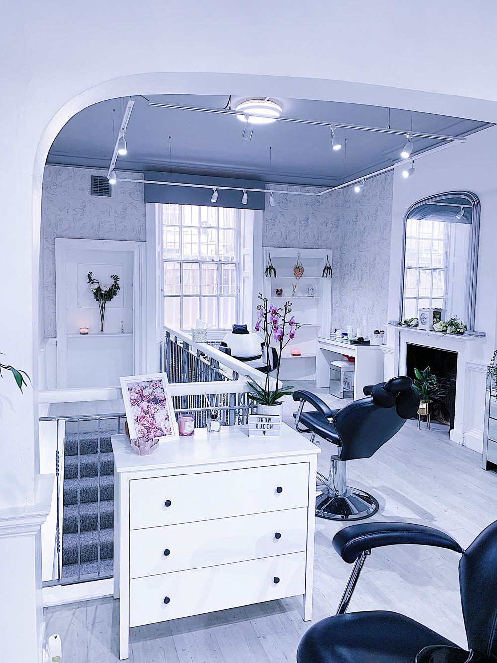 Salon with multiple chairs